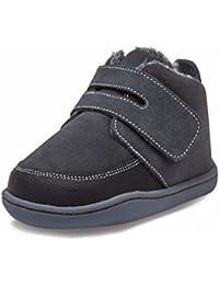 Little Blue Lamb–Zapatos para bebé unidad lernschuhe Booties Botas Piel forrado 3819Negro