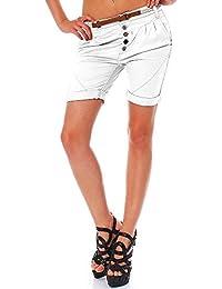 Sublevel Damen Boyfriend Chino Shorts LSL-267 Gürtel