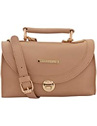 Lapis O Lupo Sepia Beige Women Sling Bag (Beige)