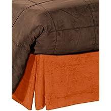 Pikolin Home - Cubrecanapé de ante ecológico, cama 135, color naranja