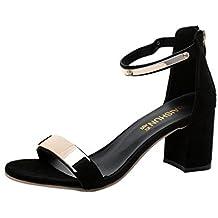 Sandalias de mujer, Internet Las sandalias del verano abren los zapatos gruesos del talón de las sandalias de las mujeres del dedo del pie