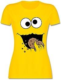 Karneval & Fasching - Keks-Monster - Damen T-Shirt Rundhals