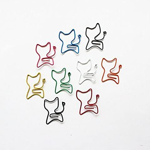 NBCVFUINJ® estilo gato colorido clips (color al azar, 10-pack)