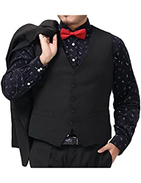 Zhuhaitf Negocio Formal Mens Plus Size Blazer Sleeveless Waistcoats Fitted Vests