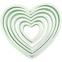 PME Heart Cutters, Set of 6