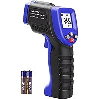Laser-Infrarot-Thermometer, Eventek -50 bis + 550 ° C Infrarot-Pyrometer Infrarot-Thermometer Digitales Thermometer Berührungslos Temperaturmesser LCD Beleuchtung (Blue)