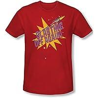 Astro Pop Mens Blast Off-Maglietta a maniche