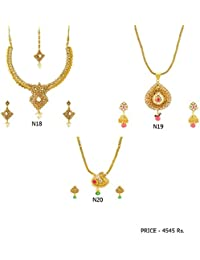 Fashion For Sure Combo Set Of Beautiful Necklaces For Lovely Womens & Girls (Combo0.18)