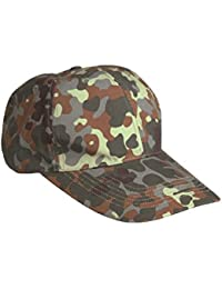 CAMOUFLAGE RIPSTOP BASEBALL CAP -- ONE SIZE -- ADJUSTABLE