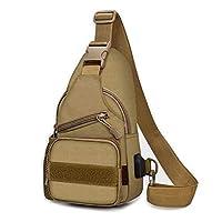 حقيبة ظهر بحزام واحد للرجال التكتيكية في الهواء الطلق مع حقيبة كتف عسكرية صغيرة حقائب طويلة تمر بالجسم