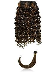 chear Disco Jerry trame Extension de cheveux humains avec de mélange tissage, Nombre P1B/30, Off moyenne Noir/...