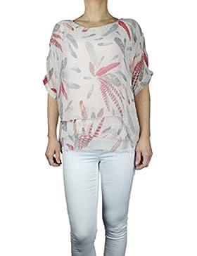 Ozmoint® Camisas - Asimétrico - Manga Corta - Para Mujer