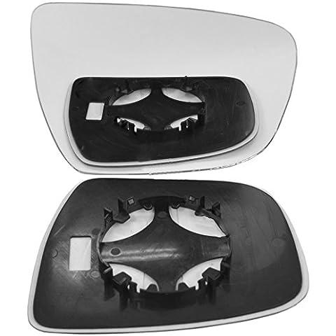 Mano destra Lato passeggero Ala Porta Vetro a specchio per Nissan X-Trail 2014–16clip on - Nissan Lato Passeggero Specchio