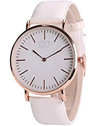 SP The Colour Change Pink Color Quartz Watch Match Color Change Leather Belt Watch - For Girls Watch - For Girls...