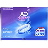 AOSEPT® PLUS Solution d'entretien pour lentilles - Pack 3 Flacons de 360 ml + 1 flacon de 90ml