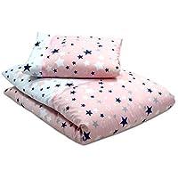 Callyna ® - Parure de lit bébé haut de gamme Etoile : housse de couette bébé 135 x 100 cm et taie d'oreiller 60 x 40 cm. 100% coton. Callynova