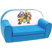 Knorr-bebé, sofá-cama para los niños, razón: Monsters, azul (azul)
