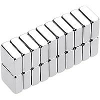 Anpro 20PCS Aimant Neodyme Carré de 10mm x 10mm x 4mm Traction Puissante pour Tableaux Blancs,Réfrigérateur,Tableau Magnétique