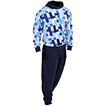 Pijama Niño Invierno Sudadera Gimnasio Pixel 100% Algodón Mangas Largas Set Suave Cómodo ...
