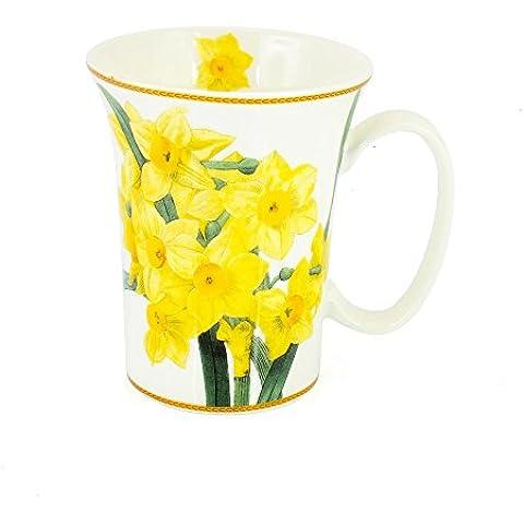 Daffodil fiore tazza di porcellana a forma di tromba The