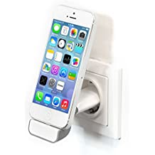 iProtect docking station soporte USB para la toma de corriente para iPhone 4S, 4, 3GS, 3G, iPod Classic Touch Nano 3G 2G Photo Mini en blanco