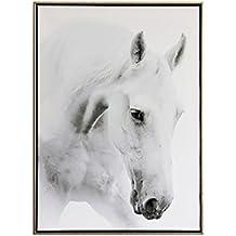 XiYunHan Affresco Nordic pittura decorativa moderno minimalista cavallo bianco soggiorno dipinti ristorante camera da letto divano parete pittura di fondo (Color : A, Size : 50*70CM)