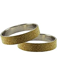 Golden Plain Metal Bangle Size-2.10 For Women And Girls