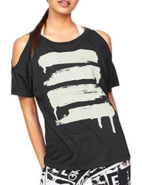 CICIYONER Camiseta de Manga Corta Para Mujer con Hombros Descubiertos Camiseta de Manga Larga Para Mujer con Blusa...