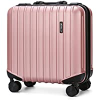 ABS + PC Hard Shell Lleve en la mano Cabina Equipaje Travel Spinner Suitcase con 4
