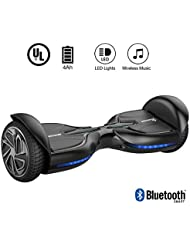 EverCross Diablo Hoverboard 6,5 Zoll Smart Self Balancing Elektroscooter Elektroroller Skateboards Bluetooth (Black)