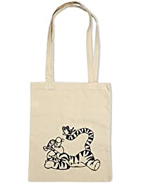 Tigger & Butterfly Cotton Shopping/Tote Shoulder Bag *Choice of design and bag colours* By Mayzie Designs®