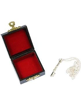 Querflöten Kette Flöte Halskette Miniblings Querflöte versilbert 4cm 60cm Box