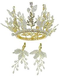 c1087fd51541 auvwxyz Tiaras Tiara Nupcial Princesa Perla Circón Corona Cumpleaños  Vestido De Boda Accesorios para El Cabello