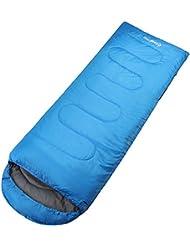KingCamp Oasis 250 Puede juntarse momia ligero saco derecho azul 100% poliéster para Camping Senderismo Trekking caliente