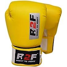 R2F Sports Cuero Courage Boxeo Guantes Puñetazos Sparring Formación MMA Muay Thai Martial Arts
