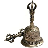 Tibetano Bell y Dorje Set, Vajra, latón, hecho a mano en Nepal