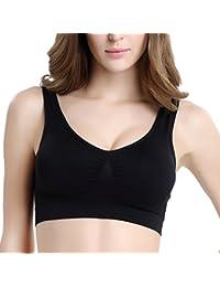 Zhhlaixing Women\'s Seamless Sports Style Bra Crop Top Vest Stretch Bras Shapewear