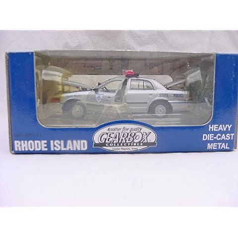 Limited Edition RI State Police 2001 Ford Crown Victoria Police Interceptor 1:43 Die-cast by Gearbox