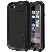 71cc2238432 Funda iPhone 5S / SE, Lanhiem [Rugged Armour] Antigolpes Metal Estuche  Protectora,