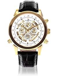Lindberg & Sons Herren-reloj analógico de pulsera automático de cuero SK14H014