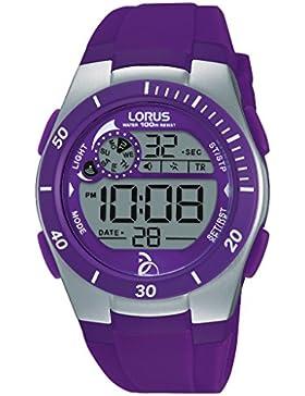 Lorus Watches Unisex-Armbanduhr Novak Djokovic Foundation Digital Quarz Kautschuk R2381KX9