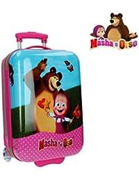 2650351 Maleta trolley rigida en ABS equipaje de mano Masha y Oso 31x55x20 cm