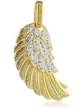 Engelsrufer Damen-Anhänger Flügel Crystal 925 Silber teilvergoldet Zirkonia weiß - ERW-M-01-ZI-G