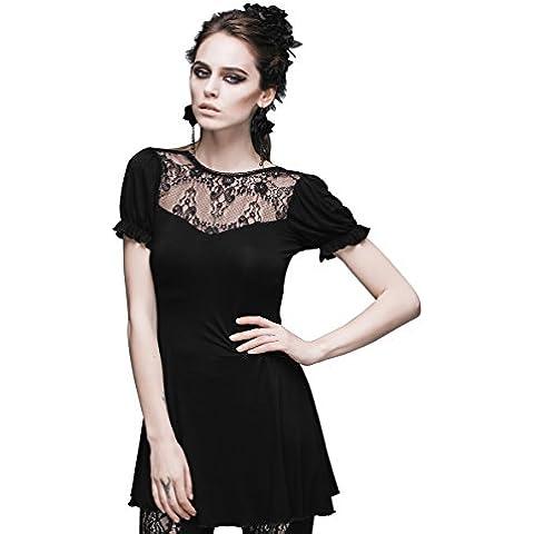 Steampunk blusa de encaje gótico Punk Tops para Victorian disfraz de renacimiento