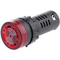 Lampada Di Segnalazione Flash LED Indicatore Di Allarme Con Cicalino Ad16-22sm 12v Rosso