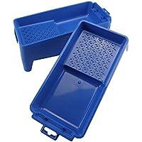 10 Stück Profi Farb-/Lackwannen 15 x 30 x 5,5 cm aus hochwertigem Kunststoff (blau). Für Farbrollen bis max. 12 cm Walzenbreite, strukturierte Abrollfläche innenseitig. Made in Germany