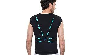 Percko - Lyne Up Correcteur de Posture - Sous Vêtement Homme - Lavable 30°- Soulage Les Douleurs Dorsales Cou Cervicales et Épaules