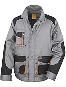 Result unisex R316X work-guard Lite chaqueta, Unisex, color gris, negro y naranja, tamaño large