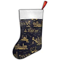 Gorgeous ornaments France City Paris Eiffel Tower Balloon-01 Christmas Hanging Stocking,Assorted Santa Gift Socks Hanging Accessories For Xmas Tree Decoration Only Printed One Side
