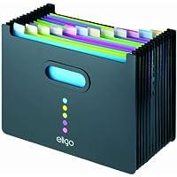 Eligo - Archivador tipo acordeón (13 compartimentos, DIN A4, formato horizontal), color negro